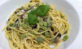 Pasta con le fave met tuinbonen2