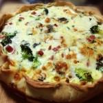 Quiche van broccoli met ham en gorgonzola