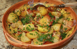 Parmezaanse kaas aardappelen
