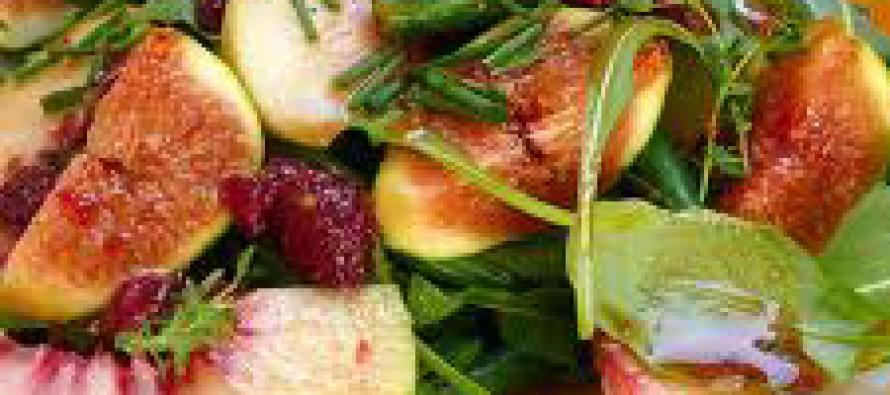 Italiaanse salade met vijgen