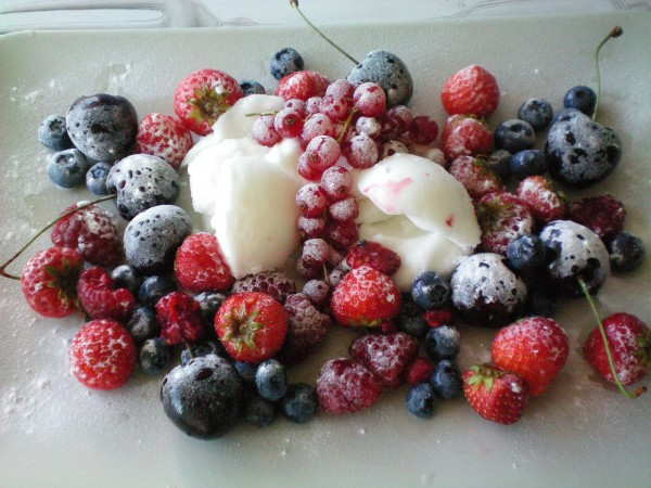 Frosted fruit