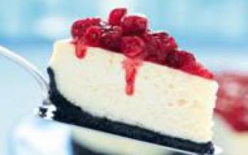 Cheesecake voor je sinterklaas met cranberry topping