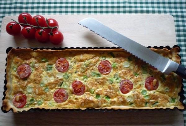 Gemakkelijke quiche met Parmezaanse kaas