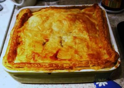 Heerlijke herfst kip-champignon-groentetaart (British Pie)