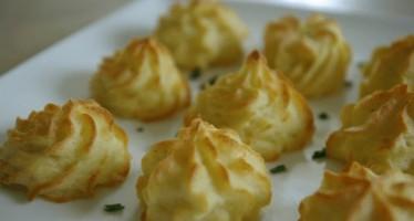 Toefjes aardappelpuree (Pommes Duchesse)