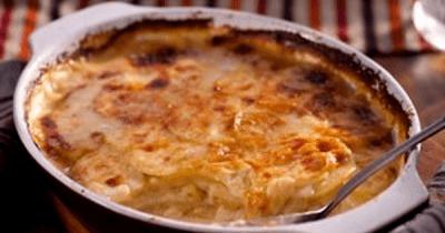 gegratineerde aardappel met ricotta
