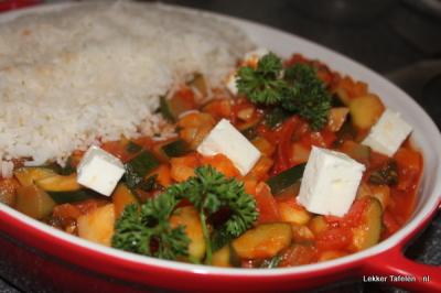 Vegetarische rijstschotel 6