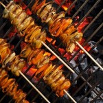 Mossel barbecue spiesjes met Thaise curry