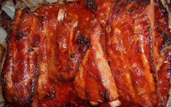 Spareribs in Amerikaanse barbecue marinade