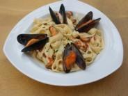 Italiaanse pasta met mosselen