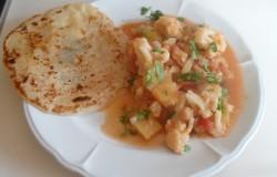 Indiase curry met bloemkool en kikkererwten