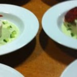 Soufflé van tongfilet met een frisse komkommerdressing