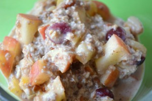 Gezonde appeltaart overnight oats