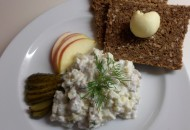 haringsalade in de winter