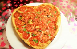 Valentijns-tomatentaart met Provençaalse salami