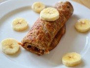 Zoete bananen pannenkoek van ei