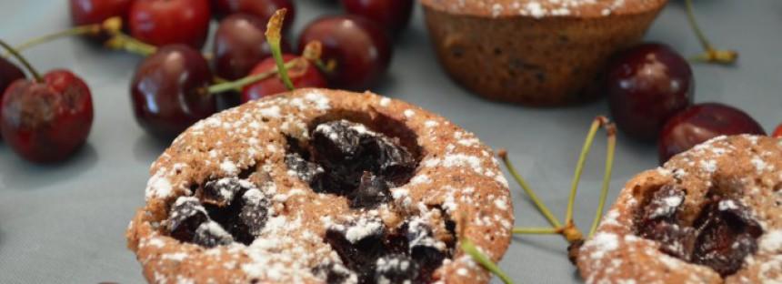 Kersen-chocolade cakejes