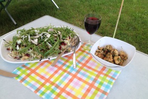 Salade met kikkererwten en limabonen