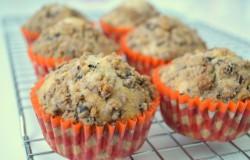 Chocolade-walnoten kruimelmuffins