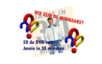 Winnaars DVD Jamie in 30 minuten