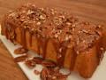 Pompoencake met karamel en pecannoten