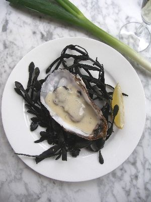 Oesters in champagnesaus