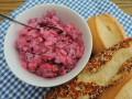 Rode bietjes-haring salade
