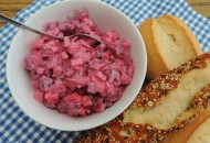 Rode bietjes=haring salade