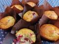 Muffin met cranberries en pecannoten