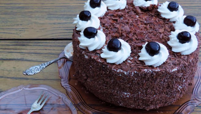 Schwarzwalder kirsch torte taart-recept
