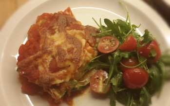 Groentenlasagne met courgette, maar zonder pasta