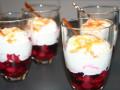 Uit de film 'Chef' de 'Berries n Cream', vruchten met slagroom, drankje en caramelpoeder