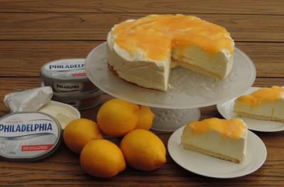 Lemoncurd cheesecake Philadelphia Roomkaas