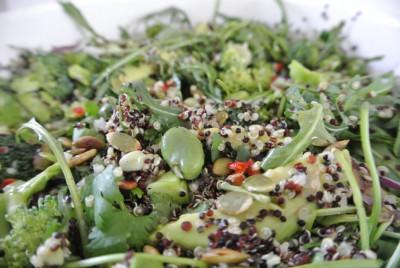 Salade van dichtbij