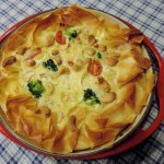 Broccoli-brie quiche