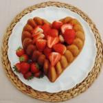 Aardbeiencake met heel veel verse aardbeien