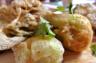 Groente tempura van aubergine en paksoy