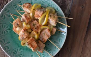 Zalmspiesjes voor de barbecue
