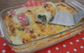 Pastarolletjes met gehakt en spinazie