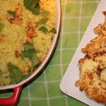 Kerrierijst met cashewnoten en ananas