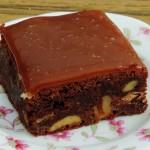 Brownie's met gezouten karamel en walnoten