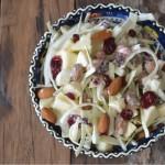 Coleslaw met amandelen en cranberry's
