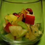 Fruitsalade in een glaasje