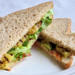 Ananas sandwich met bacon