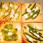 Luxe bladerdeeghapjes met kaas- en groentenvulling