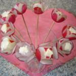 Radijs roosjes; smakelijke verrassing