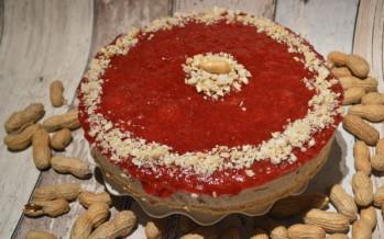 No bake Pindakaas en Jam cheesecake met een tikkeltje pit