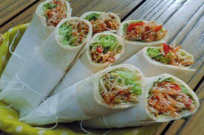 Salade wraps met een royale Thaise vulling (4)